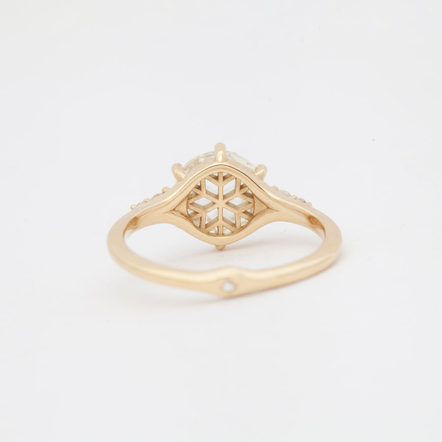 Icy Diamond Snowflake Engagement Ring