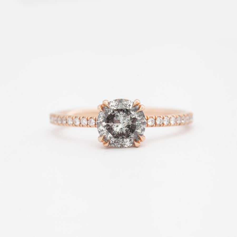 Galaxy Grey Diamond Eleonore Delicate Pavé Ring