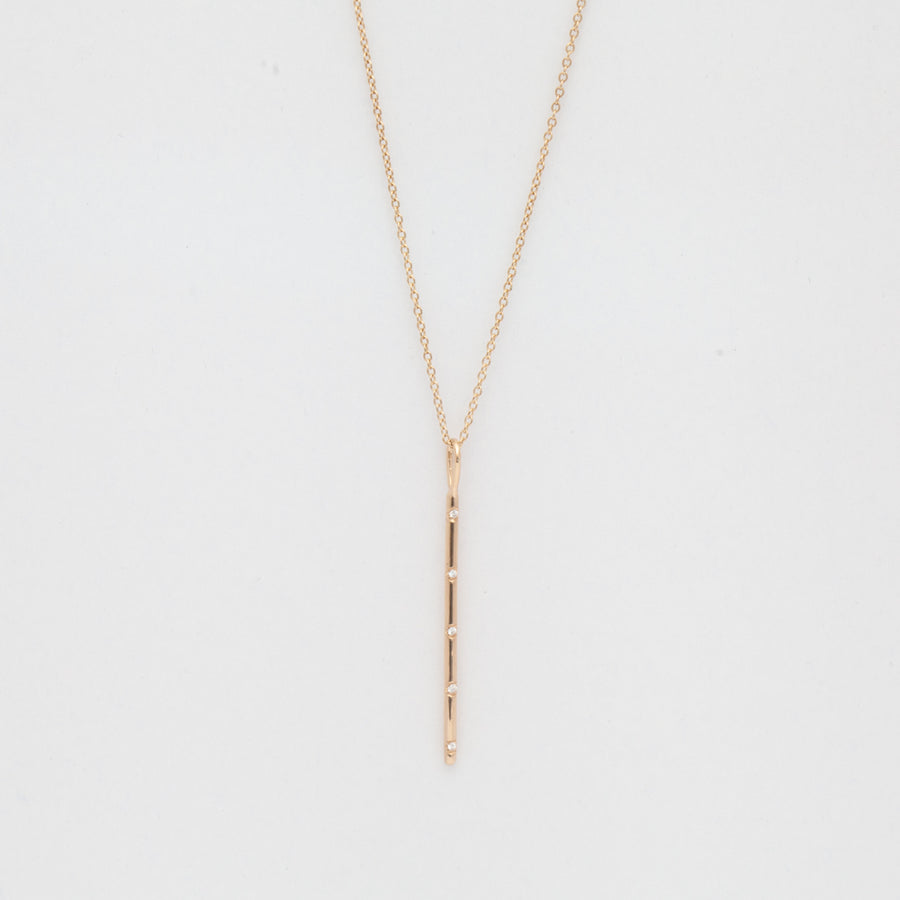 Bead Set Vertical Bar Necklace