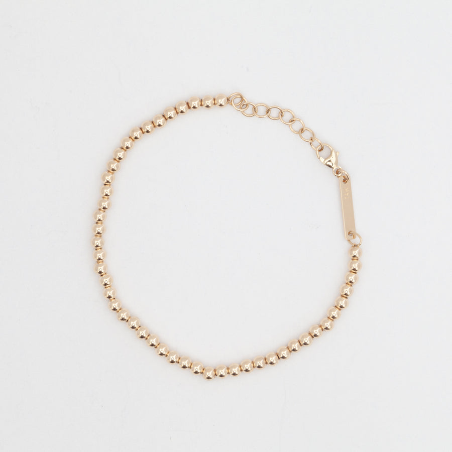 Small Gold Bead Bracelet