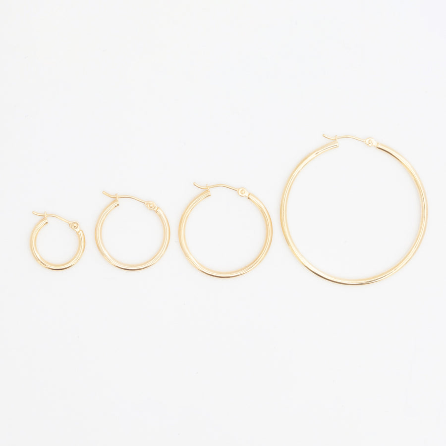 20 mm Hinged Hoop Earrings