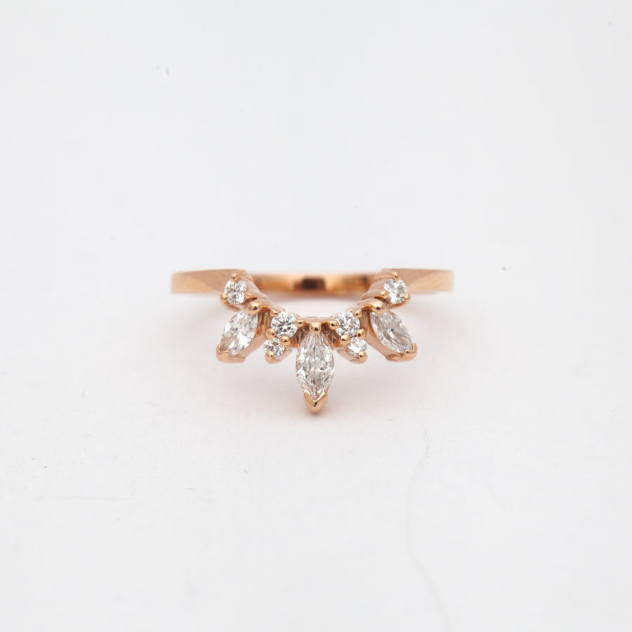 Rose Gold Marquise Butterfly Tiara Band