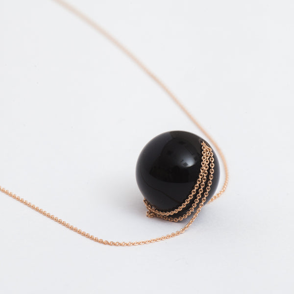 Black Moon Onyx Necklace: Detail