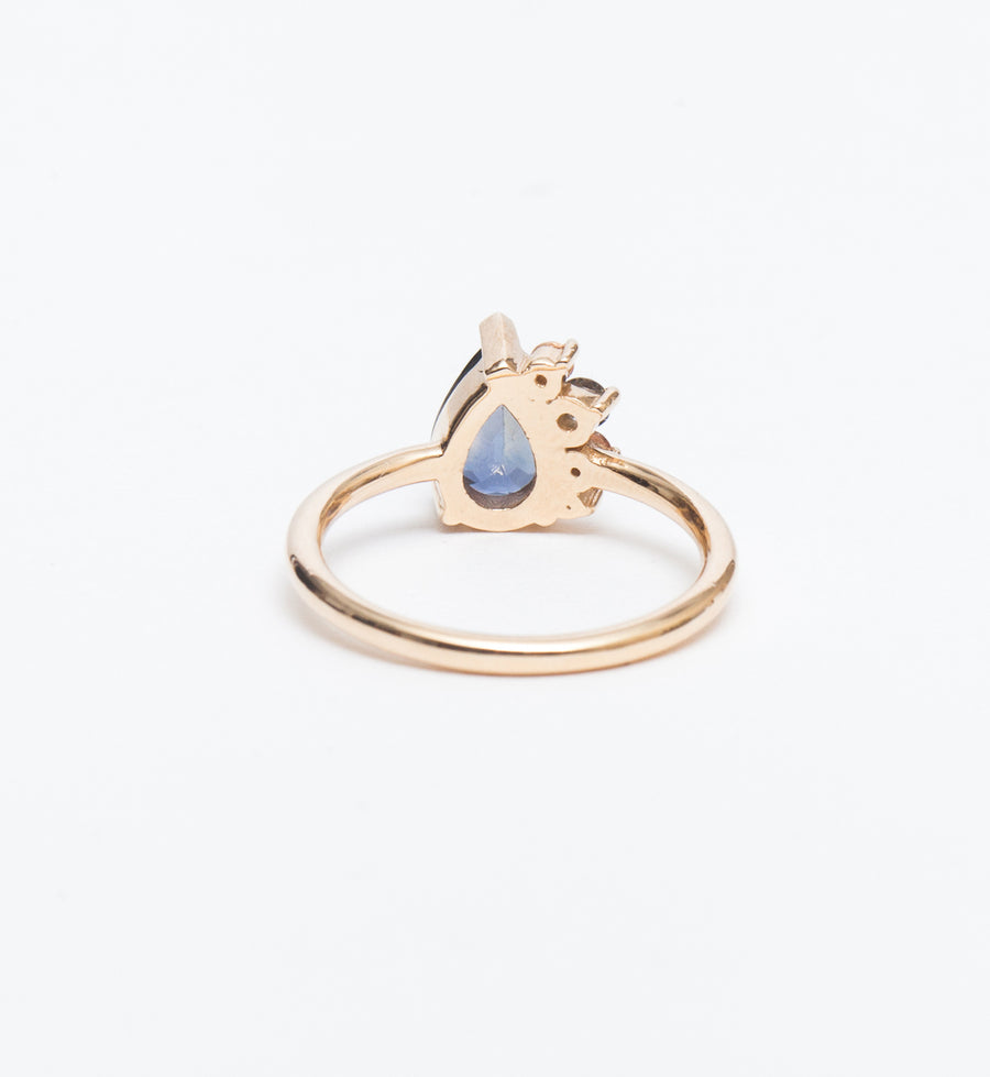 One of a Kind Pear Sapphire Ring