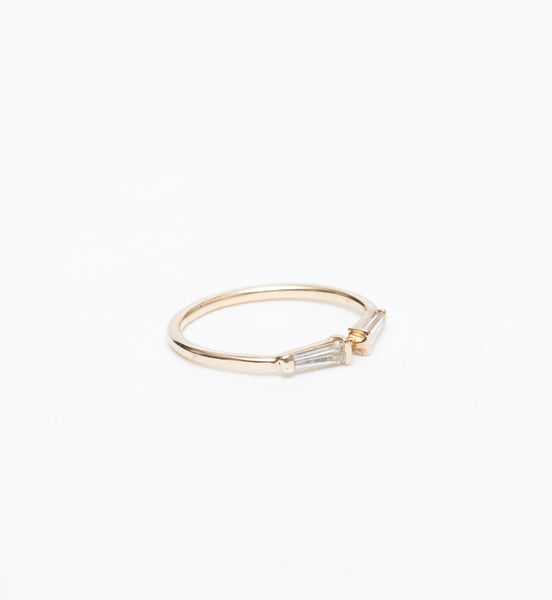 Mirrored Tapered Baguettes Ring