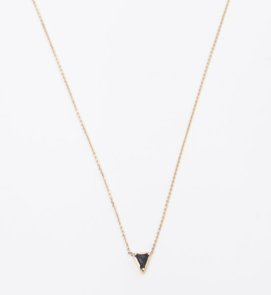 Black Spinel Triangle Necklace