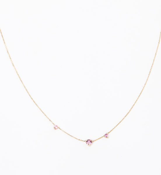 Blush Three-Step Necklace