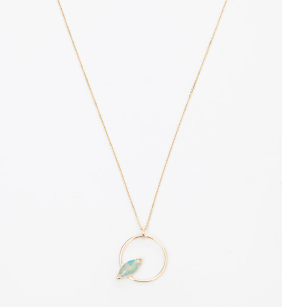 Marquise Opal Circle Necklace