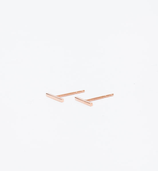 Rose Gold Staple Stud Earrings