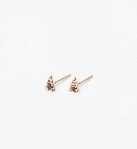 Black & White Diamond Triangle Studs