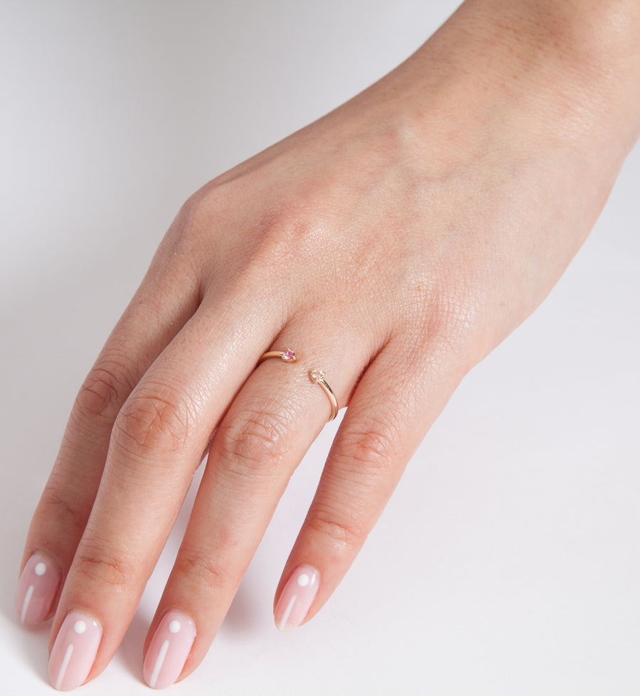 Blush Two-Step Ring