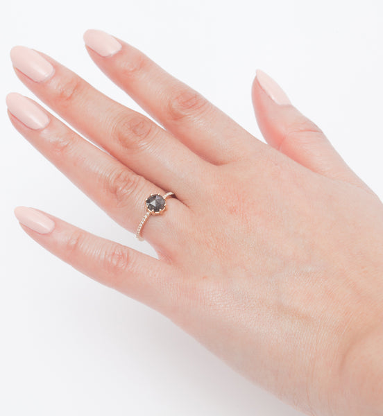 Grey Diamond Vega Ring
