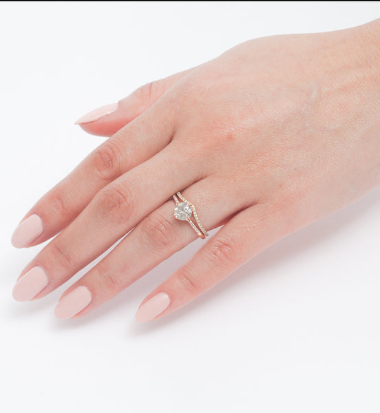 Sabine Grey Diamond Ring