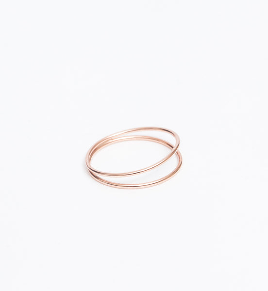 Rose Gold Helix Ring