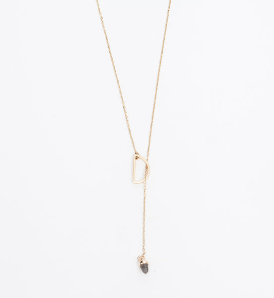 Half Moon Lariat Necklace