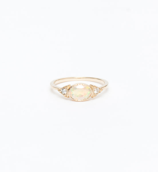 Opal Long Spear Ring