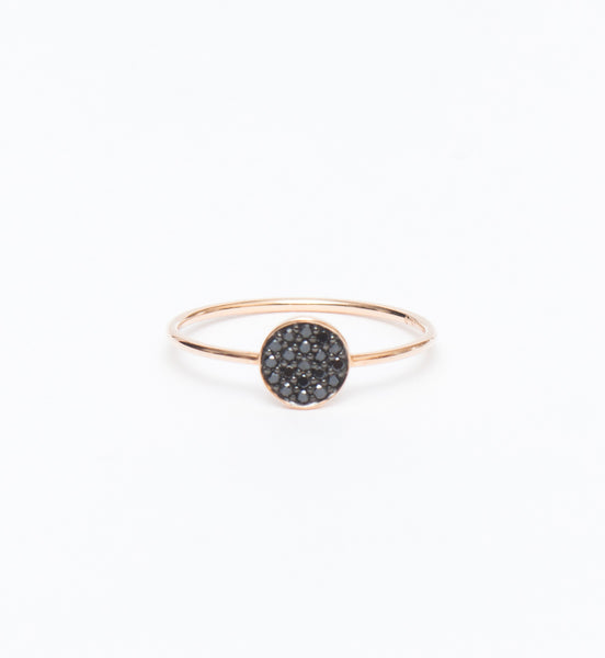 Mini Black Diamond Ever Disc Ring