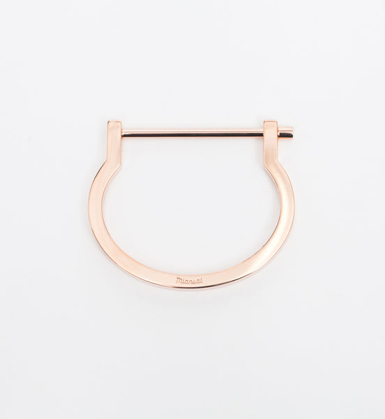 Rose Gold Modern Screw Cuff