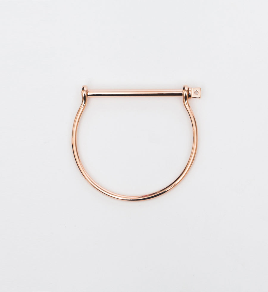 Rose Gold Thin Screw Cuff