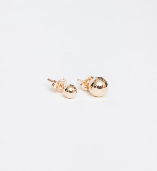 Gold Asymmetric Orbit Earrings