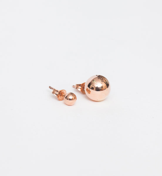 Rose Gold Asymmetric Orbit Earrings