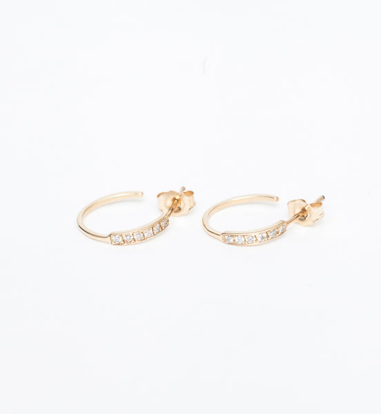 Salo Medium Diamond Hoop Earrings