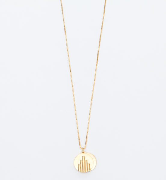 Gold Vermeil Deco Pendant Necklace