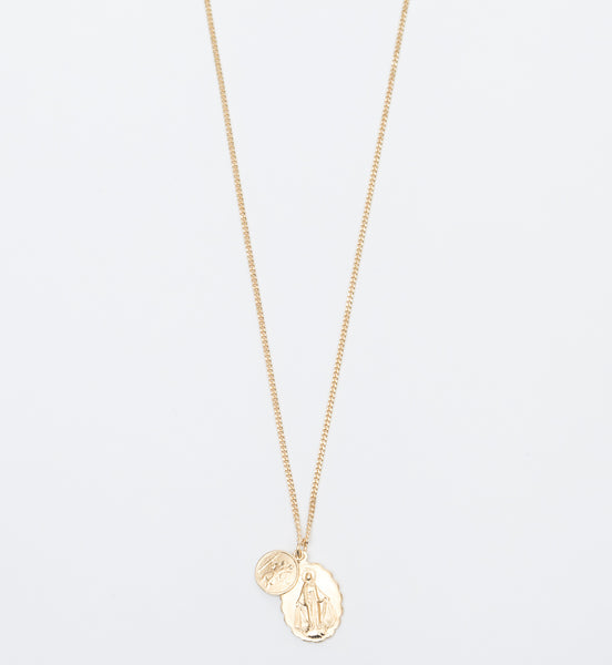 Gold Vermeil Mini Saints Necklace