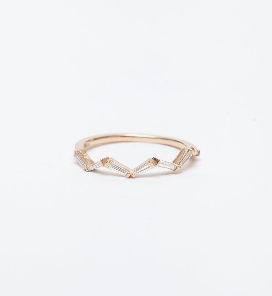 Waves Tapered Baguette Ring