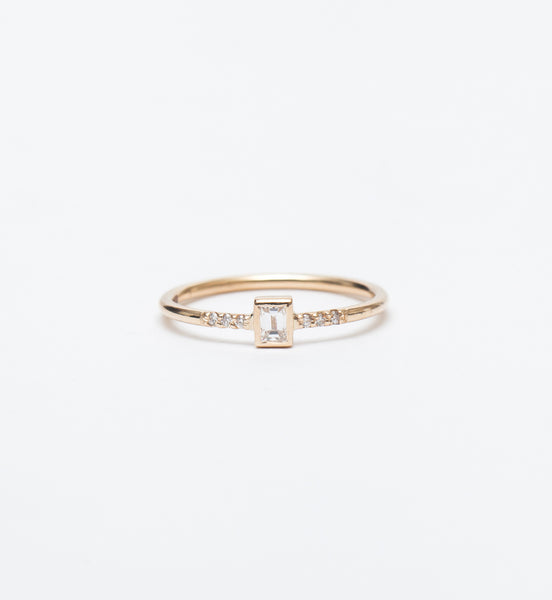 Petite Diamond Baguette Ring