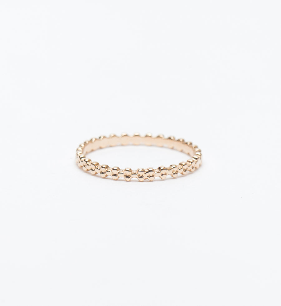 Gold Three Bead Stacking Ring