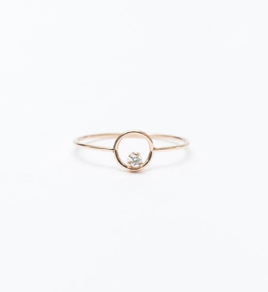 Circle Prong Diamond Ring