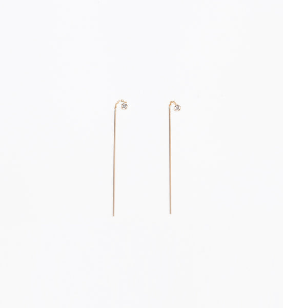 Diamond & Stick Threader Earrings