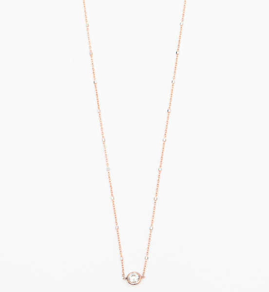 Mixed Chain Floating Diamond Necklace