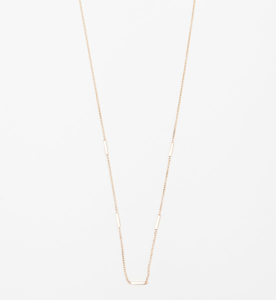 Horizontal Tiny Bars Station Necklace