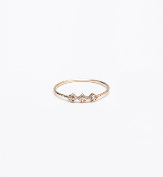 Tiny Diamond Shape Line Ring