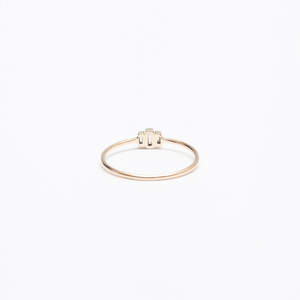 Three-Stepped Baguette Ring