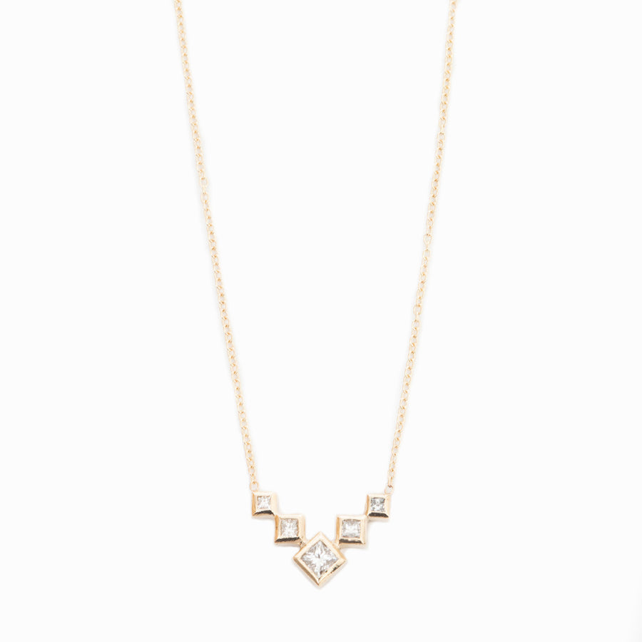 Graduated Princess V Necklace