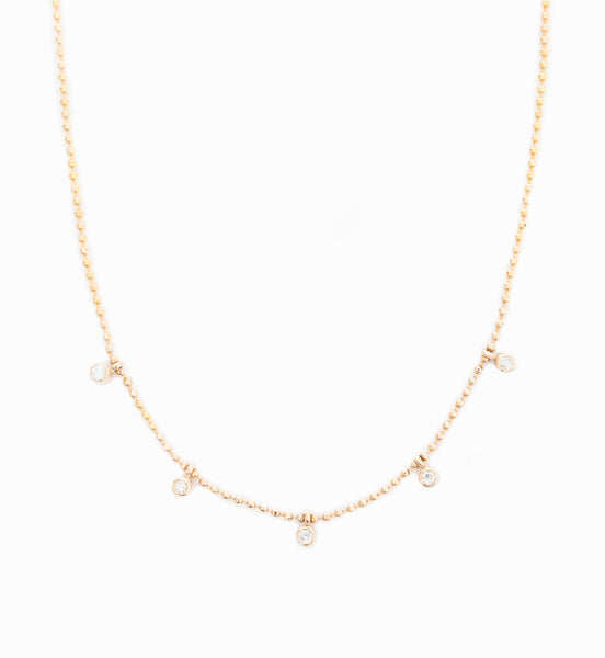 Tiny Dangling Diamonds Necklace
