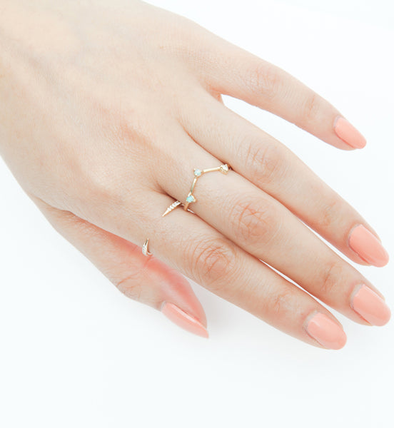 Micropavé Open Slice Ring