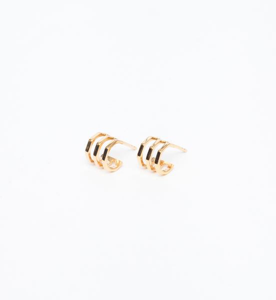 Gold Ponti Stud Earrings