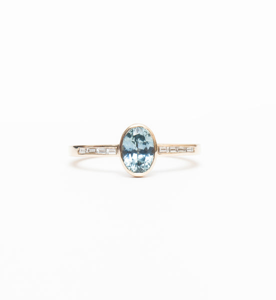 Oval Sapphire Bezel Solitaire