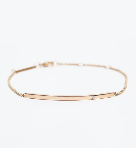 Diamond Curved Bar Bracelet