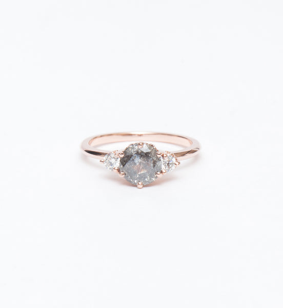 Grey Diamond Hazeline Three Stone Ring