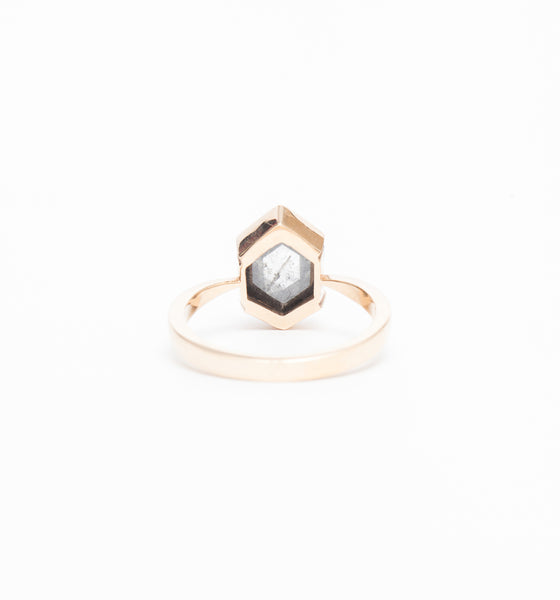 Grey Diamond Tapered Charlize Ring