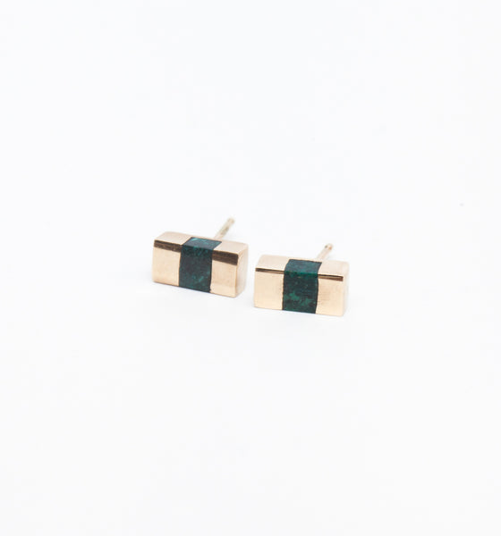 Chrysocolla Keel Beam Earrings