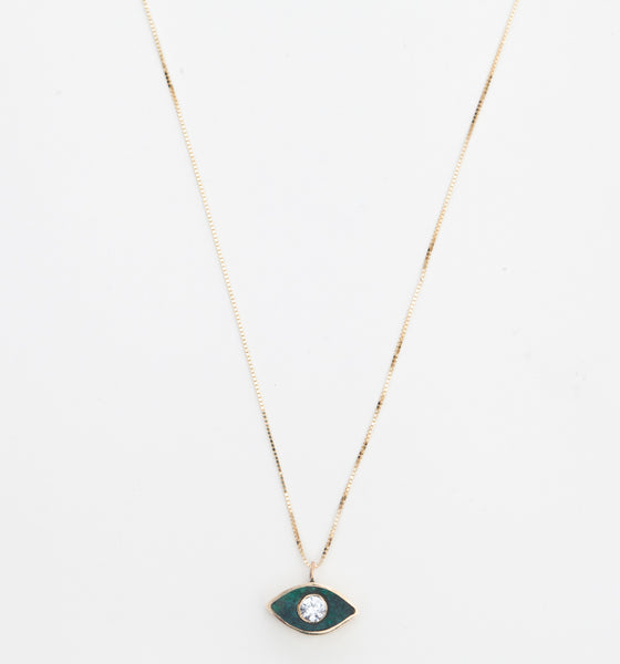 Chrysocolla Third Eye Necklace