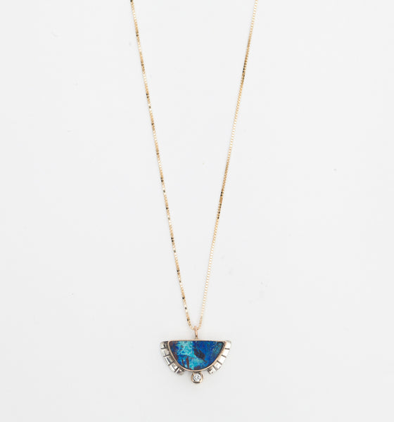 Azurite Half Sol Necklace