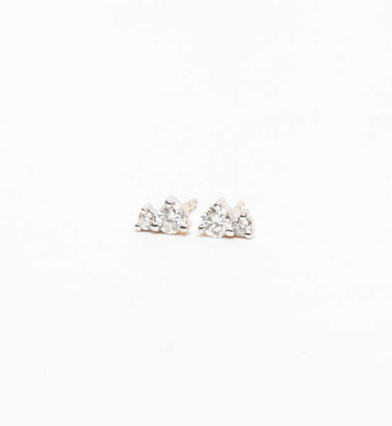 Tiny Two Diamond Amigos Studs