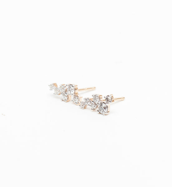 Scattered Diamonds Studs